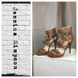 Jessica Simpson eyelet Leather strappy sandals